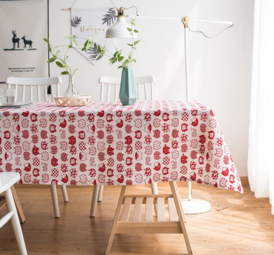 Cute Cat Cotton Coffee Table Cloth