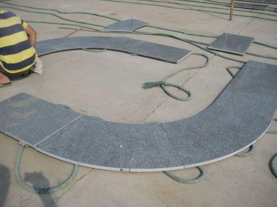 China Outdoor Radius Curved Silver Grey G343 Natural Granite