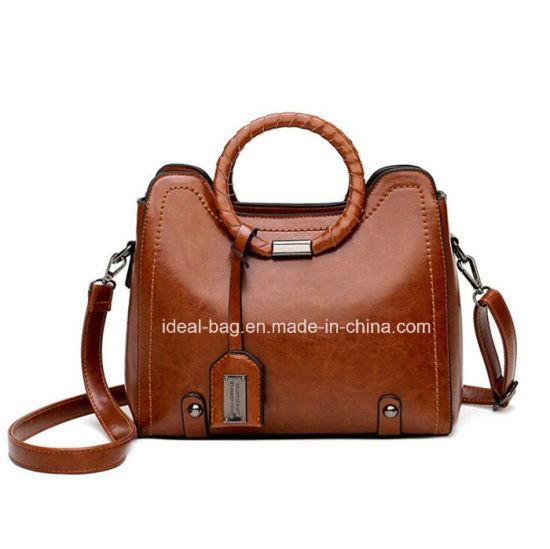 China Classical Brown PU Leather Designer Ladies Bags Handbag ... ddbc61c977a75