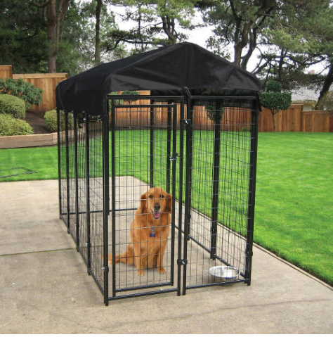 China Roof Modular Weld Mesh Dog Kennel Powder Coating Dog Kennel For Outdoor Kennel China Steel Enclosure And Dog Run Kennel Price