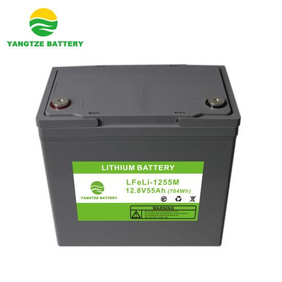 12V 55ah Lithium Iron Phosphate LiFePO4 Ion Lithium Battery