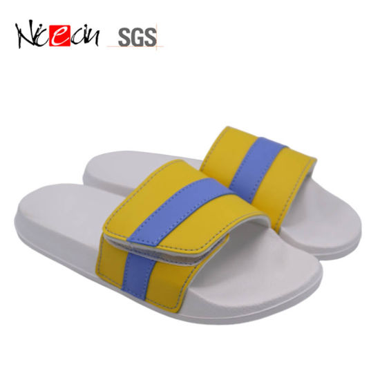 Hot Sale Soft Crocodile Pattern Slide PU Men Slippers