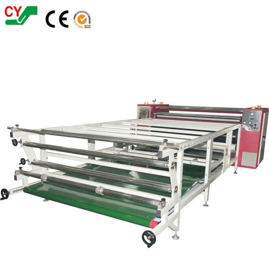 Laminate Heat Transfer Fabric Hot Roller Press Machine for Sale