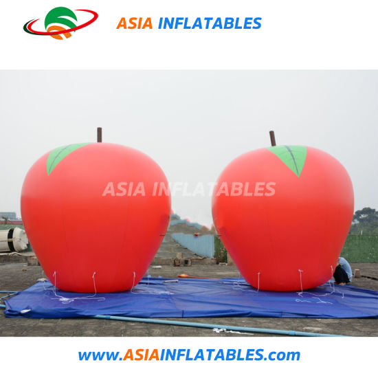 Giant Red Inflatable Fruit and Vegetable Apple for Event Display