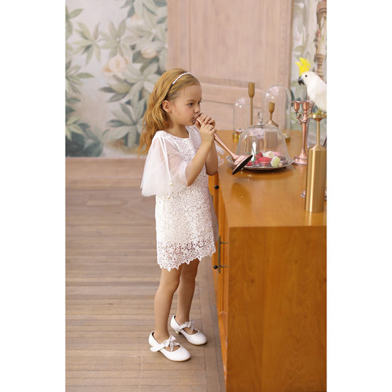 Kids Full Sleeve Flower Girl Lace Dress for Party and Holiday
