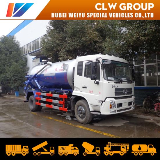 Dongfeng 12m3 Sewer Cleaning Vacuum Tank 4*2 Sewage Suction Truck
