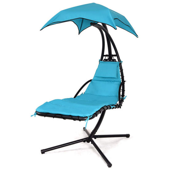 Outdoor Soft Deck Chair with Sunshade for Wholesale