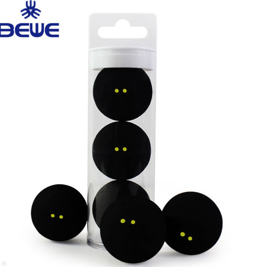 Squash Ball Two-Yellow Dots Low Speed Official Sports Rubber Balls Player