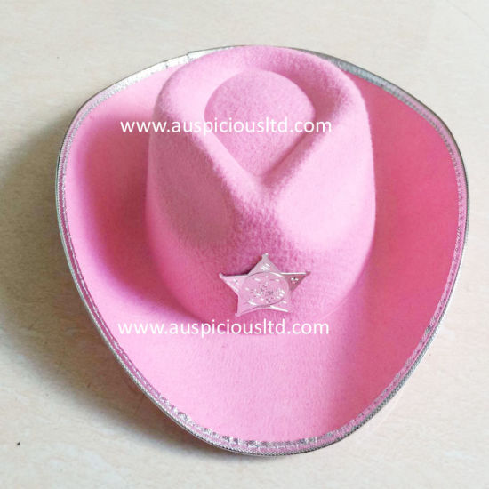 Pure Colour Cowboy Hat with Logo Printing