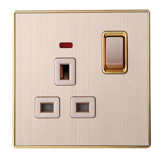 UK Socket 1gang 13A Switched Socket