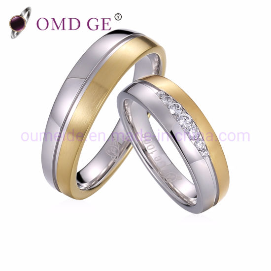 Lovely Jewelry Stainless Steel Silver Aniversary Rings