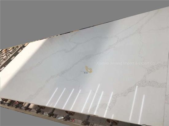 White/Grey Aritificial Stone White Quartz Slab for Bathroom Countertop/Vanitytop