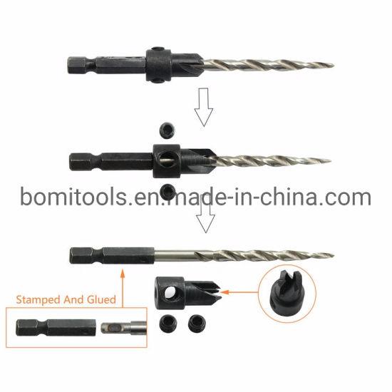 Bits 1/4 Hex Shank Drilling Tools HSS Countersink Tapered Twist Drill Bit Diamond Bit