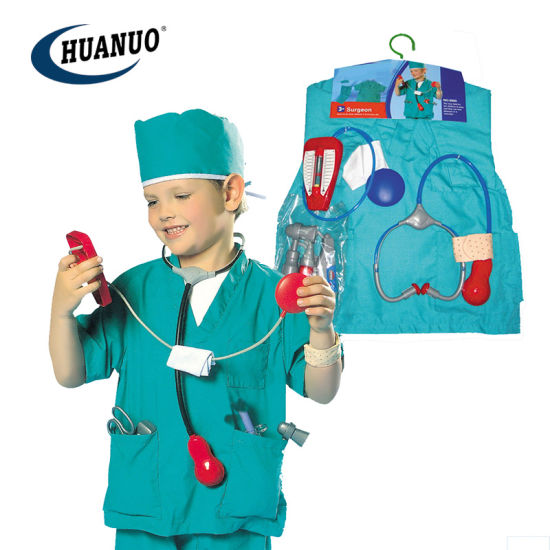 Kids Role Play Toys Doctor Costume Game with Hat pictures & photos