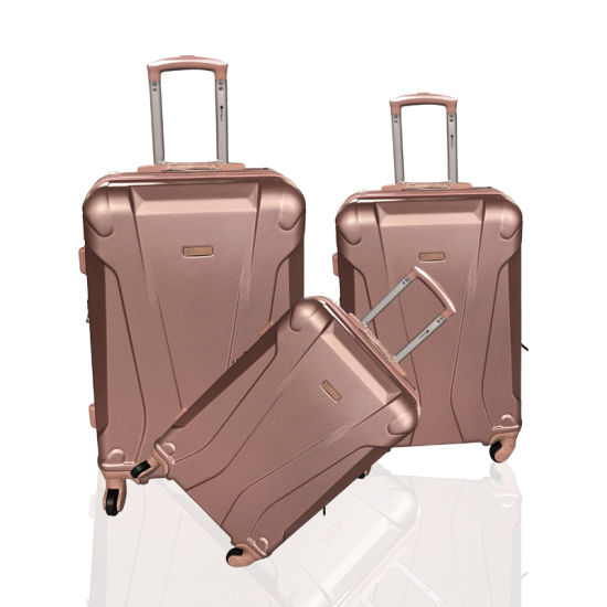 Factory Wholesale ABS PC Travel Bag Fashion Wheeled Trolley Case