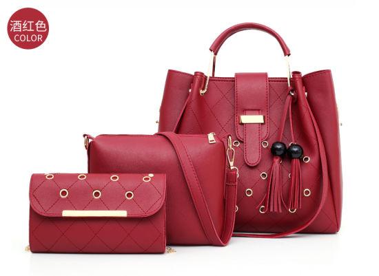 New Design of 3pieces of PU Women Handbag Set