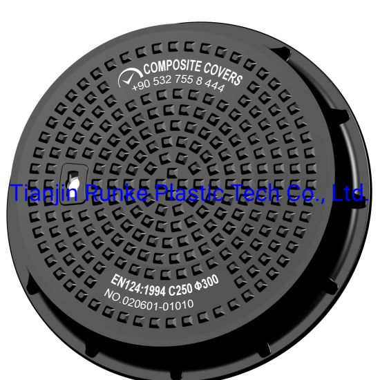 High Quality FRP Manhole Cover and Frame Watertight SMC Waterproof Manhole Cover Composite Manhole Cover BS En124