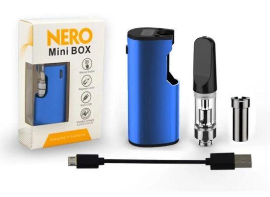 Cbd Oil Cartridge Preheating Box Mod Starter Kit 650mAh Vape Pen Conseal E Cig Box Mod Vaporizer Variable Voltage