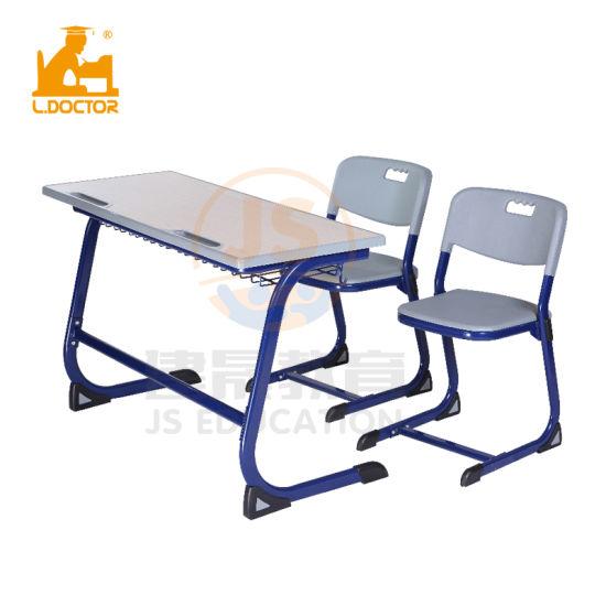 Wood Double Adjustable Desk of School Furniture