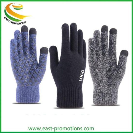 Wholesale Knitted Winter Warm Gloves, Antiskid Touch Screen Gloves Manufacturer