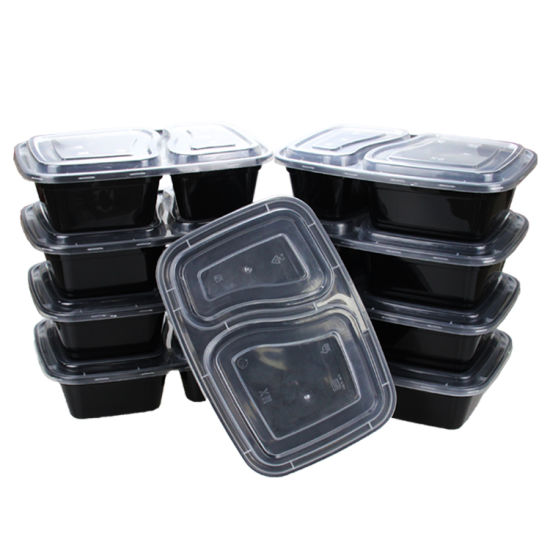 Biodegradable Plastic Disposable Compartment Food Packaging Containers pictures & photos