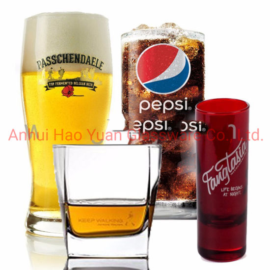 Special Design Custom Printed Logo Beer Glass Drinking Glass