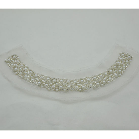 Beaded Pearl Neck Trimming Garment Accessories for Dress