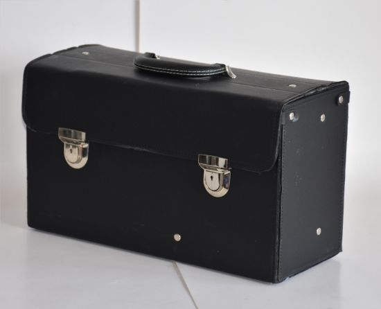 Portable PU Leather Suitcase for Hairdresser pictures & photos