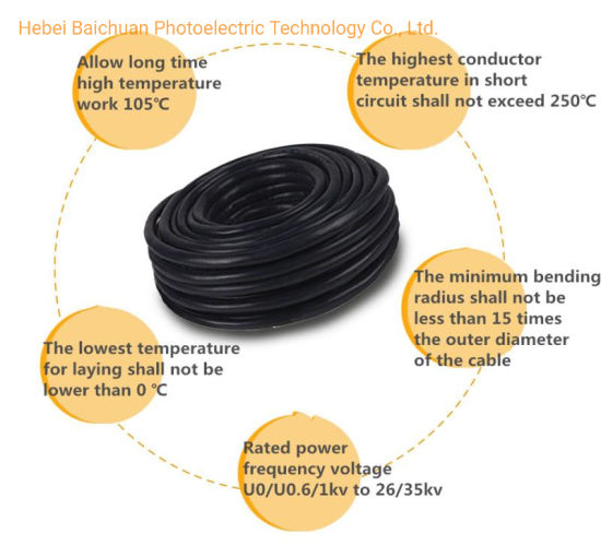 Electrical Wire Electric Cable Power Cable, 2 3 4 Cores Flat Flexible Flex Control Cable