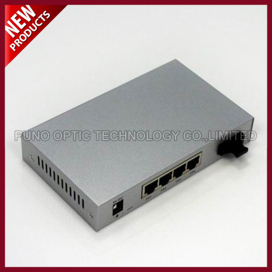 Fiber Optic 10/100Base-Tx to 100Base-Fx Media Converter pictures & photos