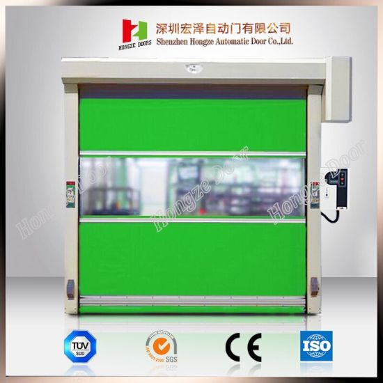 Security Rapid Rolling Interior High Speed PVC Roll up Fast Door (Hz-HS0515) pictures & photos