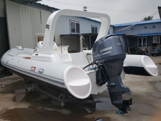 Haoyu 22.3FT 6.8m Inflatable Rib Boat, Rescure Boat, Fishing Boat, Rigid Hull Boat, PVC or Hypalon