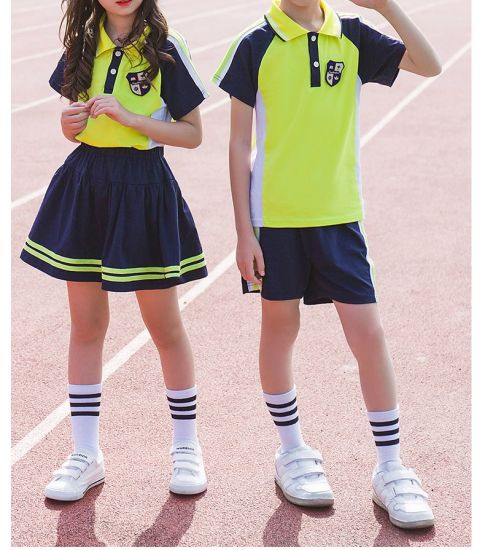 Custom Cotton School Uniforms for Elementary School Students Classes Cloth Uniform