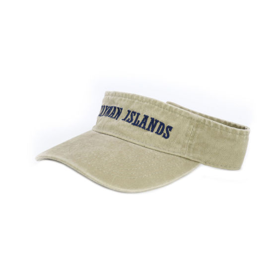 Embroideried Logo Washed Cotton Visor Cap for Wholesale