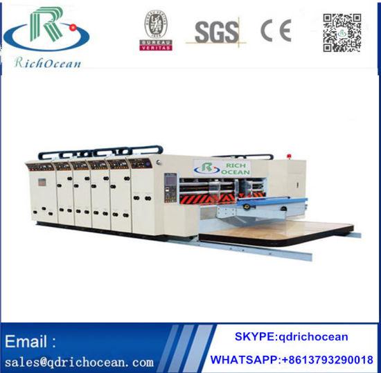 Flexo High Speed Corrugated Paper Box Printing Machine
