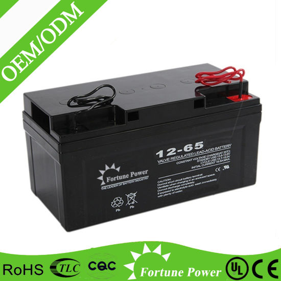 Rechargeable 12V 65ah Deep Cycle Gel Solar Enery Storage Battery