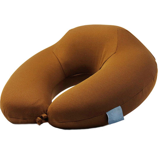 Good Material U-Shape PVC or TPU Inflatable Neck Pillow with Cover pictures & photos