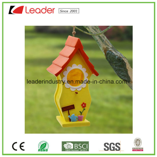 Hand Painted Resin Birdhouse for Garde N and Tree Decoration pictures & photos