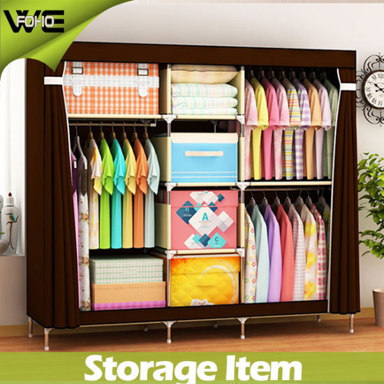 Portable Discount Waterproof Fabric Closet Furniture Wardrobes pictures & photos