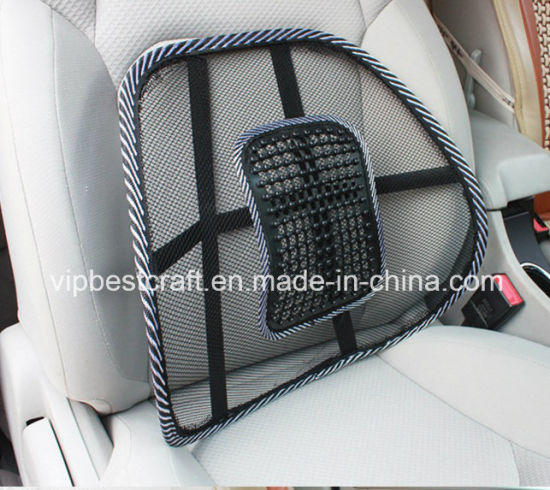 Crazing Selling Mesh Lumbar Back Brace Support Car Seat Chair Massage Cushion