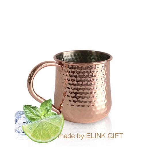 Premium Quality Food Grade Inox Stainless Steel 304 Hammered Copper Moscow Mule Mug Cocktail Mugs Beer Mug