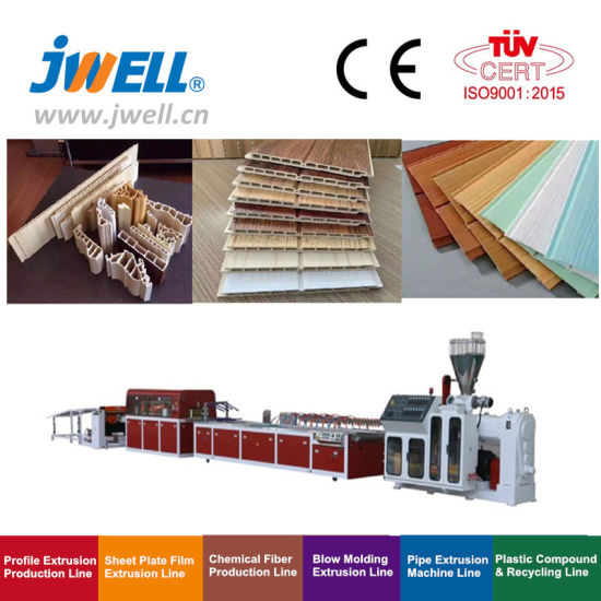 Jwell WPC Wall Panel, PVC Ceiling, PP/PE Wood Plastic Profile Extrusion Equipment