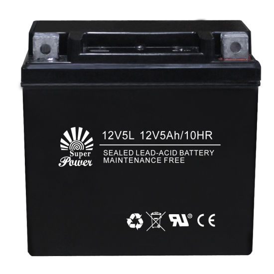 VRLA Motorcycle Battery 12V 5ah with CE UL Certificate Called 12V5L