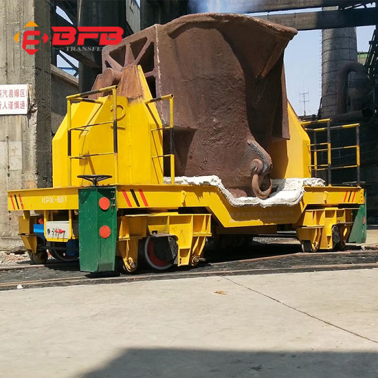 Anti-Heat Battery Operated Electric Motor Drive Ladle Transfer Car for Molten Steel Handling