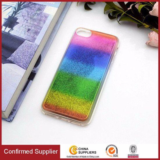 Cool Rainbow Liquid Glitter Phone Cases for iPhone 6/7