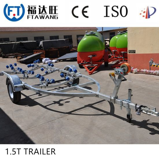 Galvnaized Single Axle Boat Trailer with Roller