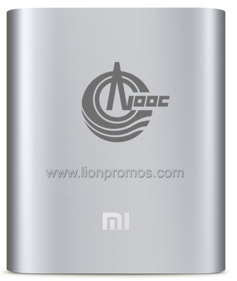 Cnooc Logo Original Mi Brand Aluminum Alloy 10400mAh Power Bank pictures & photos