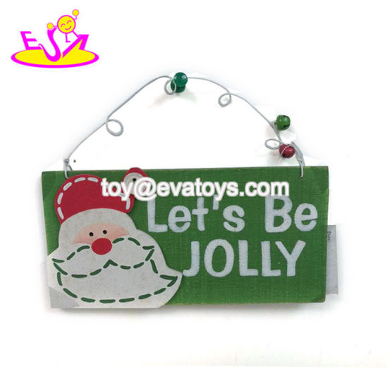 wholesale customize wooden christmas decorations for stocking gift w09d047