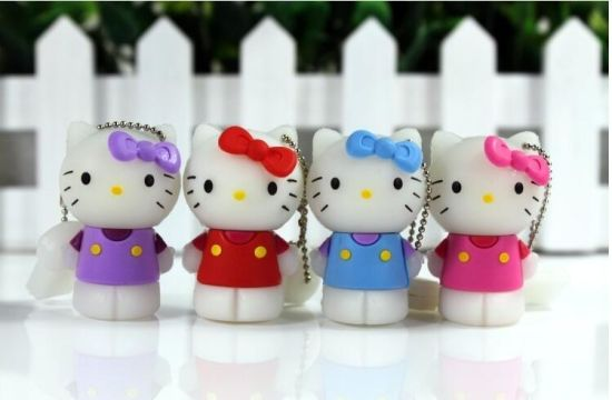 Full Capacity Cartoon Hello Kitty USB Flash Drive Pen Drive Gift USB Flash Disk USB Stick pictures & photos