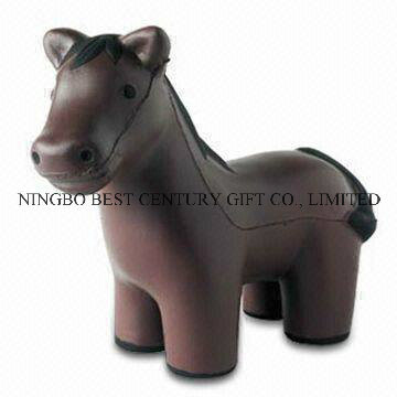 Wholesale PU Foam Toy Horse Design Promotional Animal Stress Balls